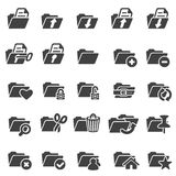 Set of folder icons Royalty Free Stock Photo