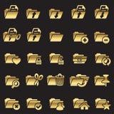 Set of folder icons Royalty Free Stock Photography