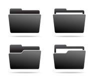Set of Folder Icons. Set of Dark grey Folder Icons. Vector illustration Stock Image