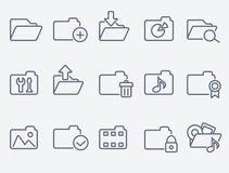 Set of 15 folder icons Stock Images