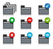 Set of folder icons. Vector illustration of folder icons Stock Photos