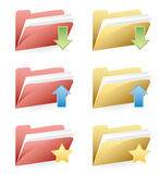 Set of folders Royalty Free Stock Photography
