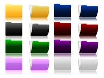 Set of  folders Royalty Free Stock Photo