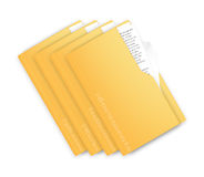 A set of folders Royalty Free Stock Photos