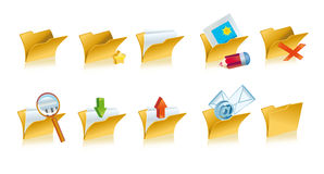 Set of folders icons Royalty Free Stock Images