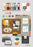 Set of folders, stickers, color bubbles. Stock Image