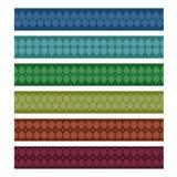 Set of folk ribbons. Illustration vector illustration