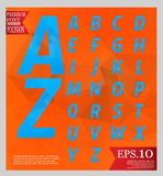 Set font low poly design style alphabet multi color and backgrou Royalty Free Stock Photo