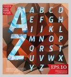 Set font low poly design style alphabet multi color and backgrou Stock Photo