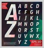 Set font low poly design style alphabet multi color  Royalty Free Stock Photos