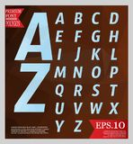Set font low poly design style alphabet multi color   Royalty Free Stock Image