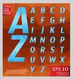 Set font low poly design style alphabet multi color   Stock Photo