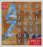 Set font low poly design style alphabet multi color  Royalty Free Stock Photo