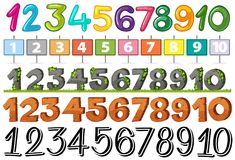 A Set of Font Number. Illustration Royalty Free Illustration