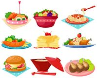 Set of food royalty free illustration