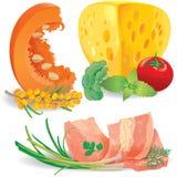 Set of food Stock Photos