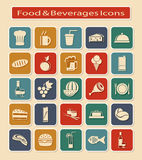 Set of Food & Beverages Icons Royalty Free Stock Photos
