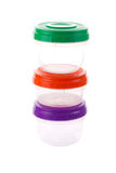 Set of food containers Royalty Free Stock Images