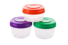 Set of food containers Stock Image
