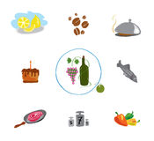 Set food and cooking Royalty Free Stock Photography