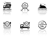Set of food delivery icons Royalty Free Stock Image