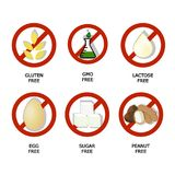 Set of food dietary  symbol,  icon,  sign,  set,  label,. Set of food dietary  symbol,  icon,  sign,  set,  label Royalty Free Stock Photography