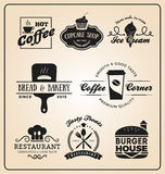 Set of food and drink badges logo Royalty Free Stock Photos