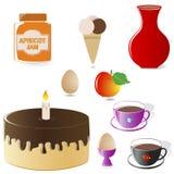 Set of Food Icons. Stock Photos