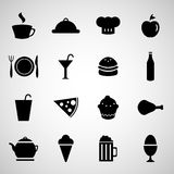 Set of food icons Stock Photo