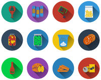 Set of food icons Stock Image