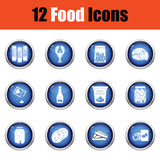 Set of food icons. Stock Photos