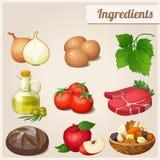 Set of food icons. Ingredients. Royalty Free Stock Image