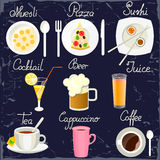 Set of food icons Stock Photography
