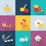 Set of food icons Royalty Free Stock Photo