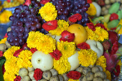 Set of food prepare for the spirits of the gods of the ceremony Royalty Free Stock Photo