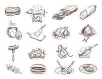 Set of food Royalty Free Stock Images