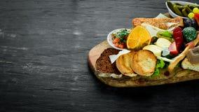 A set of food. Snacks of Italian cuisine. royalty free stock photos