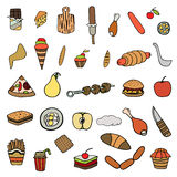 Set of food theme Royalty Free Stock Photography
