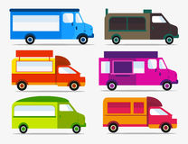 Set of Food Trucks icons. Truck festival. Stock Photography