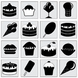 Set with food. Royalty Free Stock Image