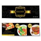 Set of food voucher discount template design Stock Image