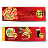 Set of food voucher discount template design Stock Photo