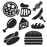Set of food web and mobile icons. Vector. Stock Image