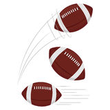 Set of Football being thrown Royalty Free Stock Images
