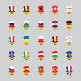 Set of football fan icon vector Royalty Free Stock Photography