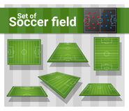 Set of football field. Vector , illustration Stock Images