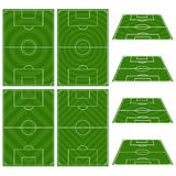 Set of Football Fields with Patterns Stock Photography