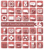 Set of football flat icons Stock Images