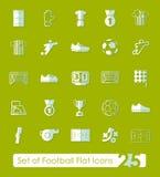 Set of football flat icons Royalty Free Stock Photo
