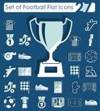 Set of football flat icons Stock Photo